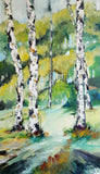 Birch in bunch ( 40x70 cm )
