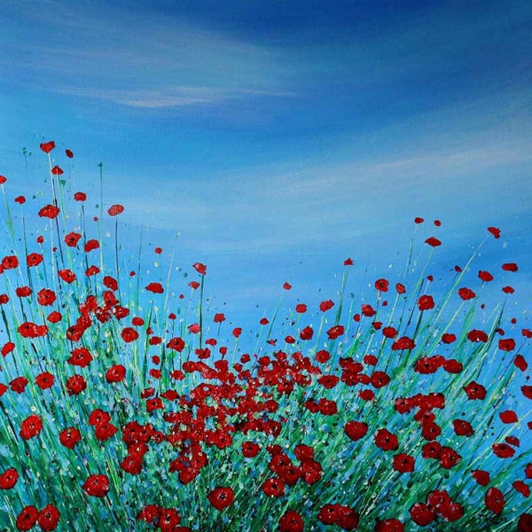 Poppy Meadow ( 70x70 cm )