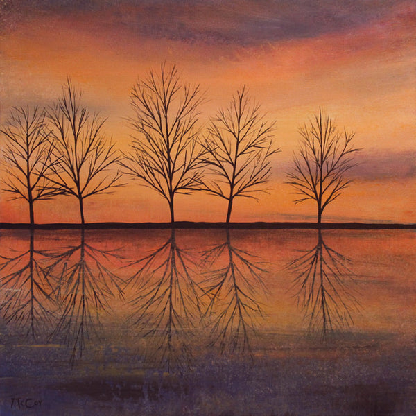 Evening Reflections ( 50x50 cm )