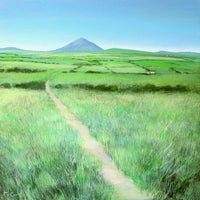 Pilgrim Path to Croagh Patrick Mountain ( 50x50 cm )