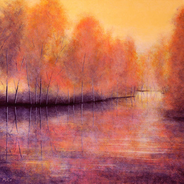 Autumn Reflections ( 80x80 cm )