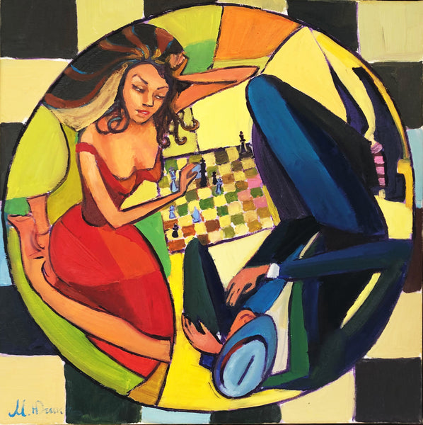 Circle of life in chess (50x50cm)