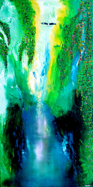 Around the falls ( 60x120 cm )