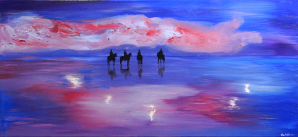 Horses at the North Sea ( 130x60 cm )