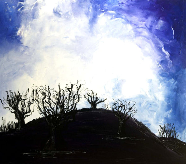 The old oak trees ( 135x120 cm )