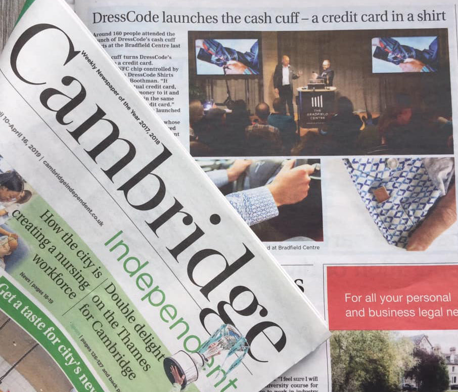 CashCuff Cambridge News April 2019