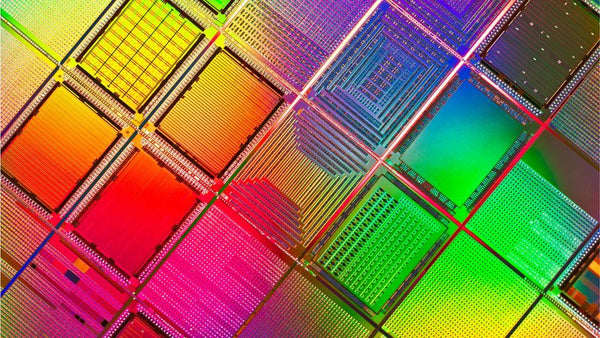 Colourful microchips