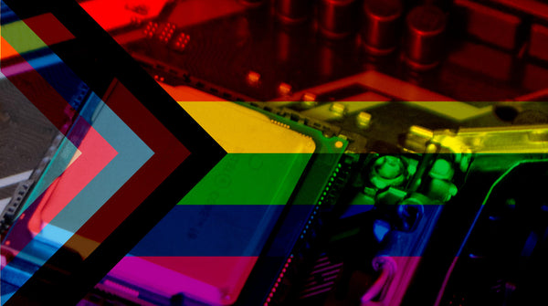 Pride flag and microchips
