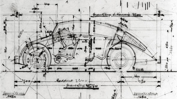 Concept drawings for VW Beetle