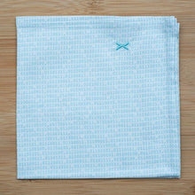Folded Binary cotton pocket square