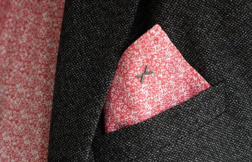DressCode Red and White Pixel pocket square