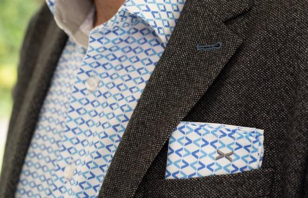 DressCode Signature pocket square with shirt