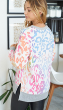 Load image into Gallery viewer, Pastel Leopard Knit Tunic