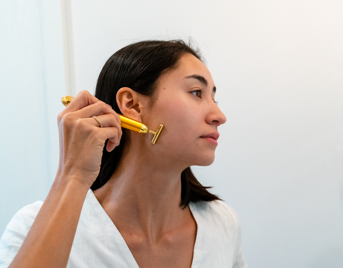 Lift, Tone, and Sculpt Skin with a Vibrating Gold Bar