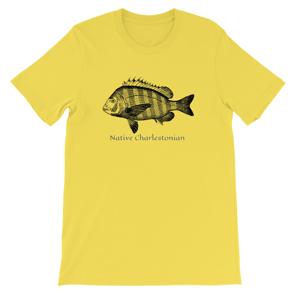Native Charlestonian Collection Sheepshead by Folly Life Short-Sleeve Unisex T-Shirt