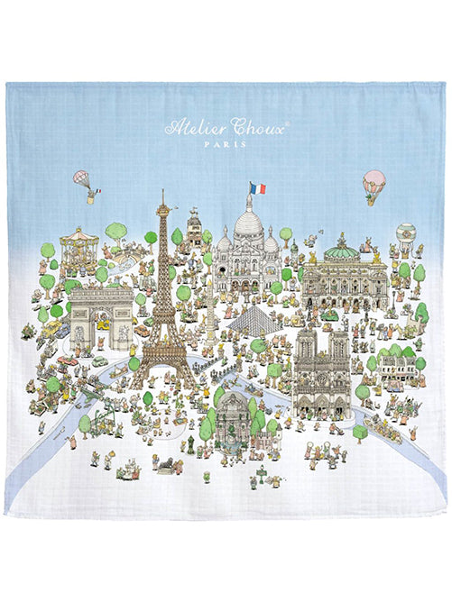 French Organic Cotton Baby Wraps - Paris by Atelier Choux Paris (Large)