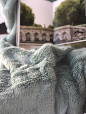 Faux Fur Throw - Celadon