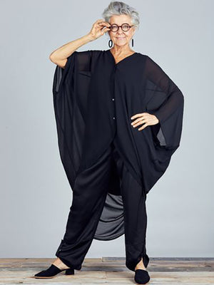 Claudia Black Overshirt in Black