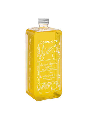 Durance Savon de Marseille Liquid Soap with Lemon and Ginger 300ml Refill