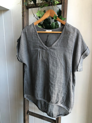 Eloise Linen T-Shirt (various colours)