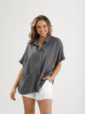 Fancy Free Cotton Shirt - Charcoal