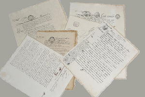 French Handwritten Letter Manuscripts