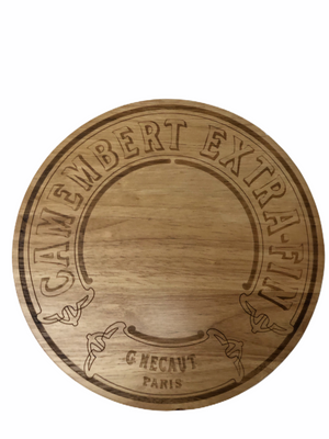 French Round wooden cheeseboard - Camembert