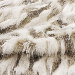 Heirloom Luxury Faux Fur Throw - Snowshoe Hare