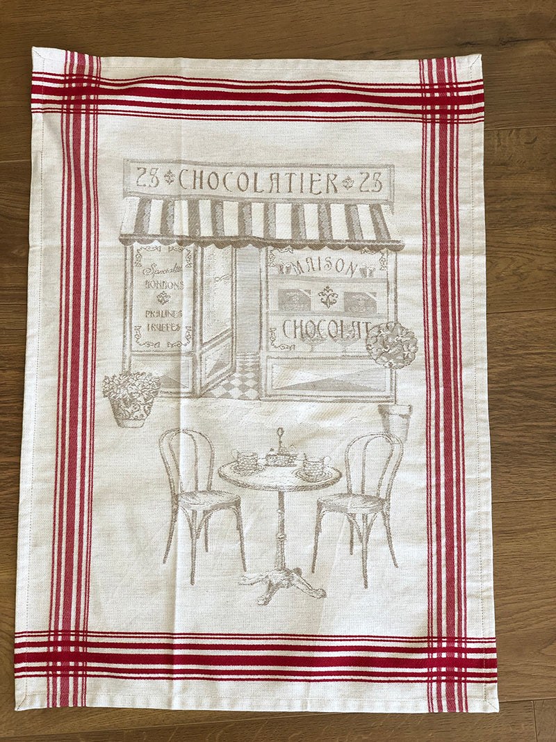 """Chocolatier"" French Cotton Tea Towel"