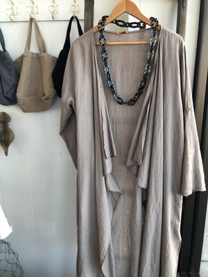 Linen Loose Fitting Cascade Coat