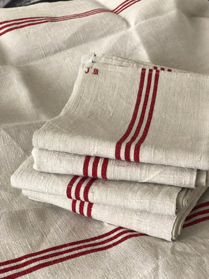 French Vintage Linen Tea Towels