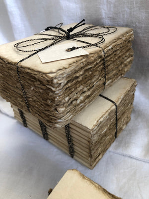 French Handmade Paper Notebooks (small or large)