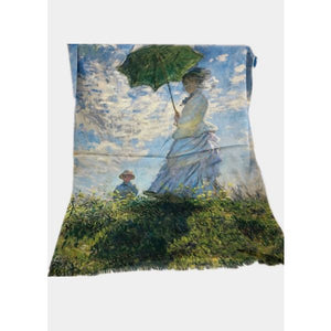 Impressionists Cotton Scarf - Monet - Woman with Parasol