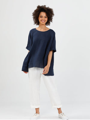 Brave + True Iris Top - Navy