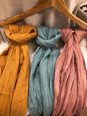 100% Linen Scarf (Various Colours)