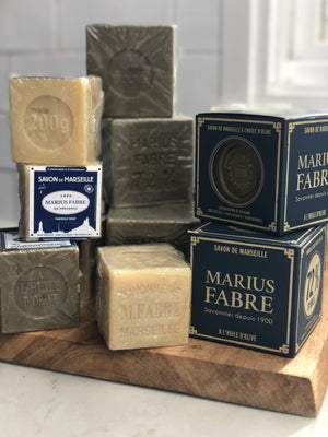French Olive Oil Cube Soap - Savon de Marseille by Marius Fabre (400gm boxed)