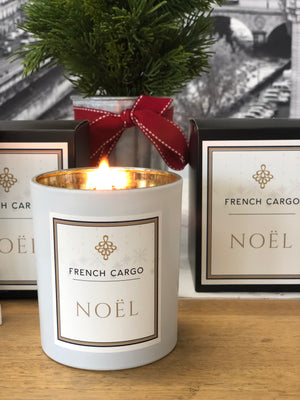 French Cargo Christmas Candle NOEL