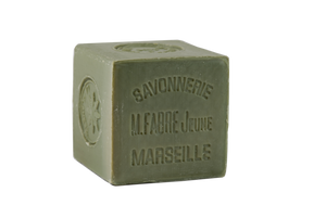 French Olive Oil Cube Soap - Savon de Marseille by Marius Fabre (400gm clear wrapping)