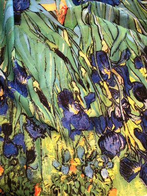 The Irises Cotton Scarf - Van Gogh