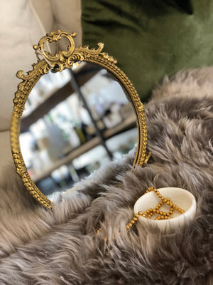 Round French Style Mirror