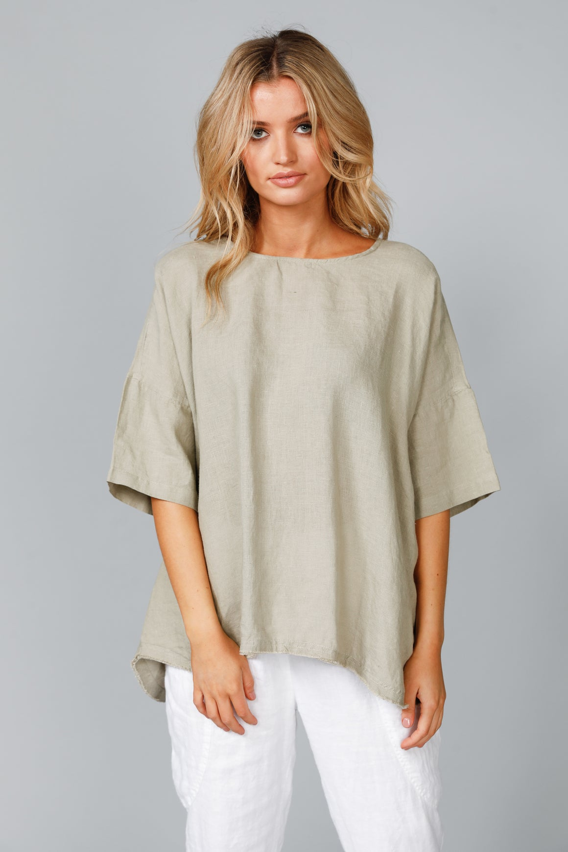 Scout Linen Top (Tea)