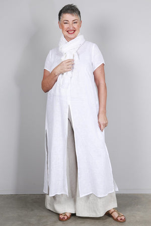 Soft Top Flare Linen Pants