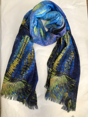 Starry Night on the Rhone Digital Print cotton Scarf