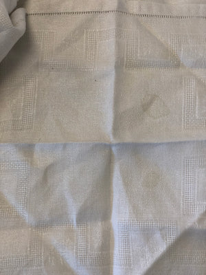 Vintage Hand Embroidered White Table Napkins