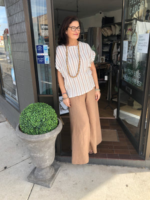 Wide-Legged Linen Pants (Camel or Black)