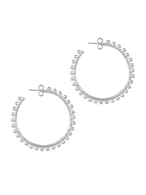 Christina Silver Hoop Earrings