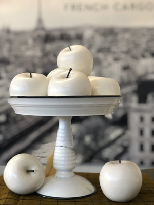 White Decor Apples