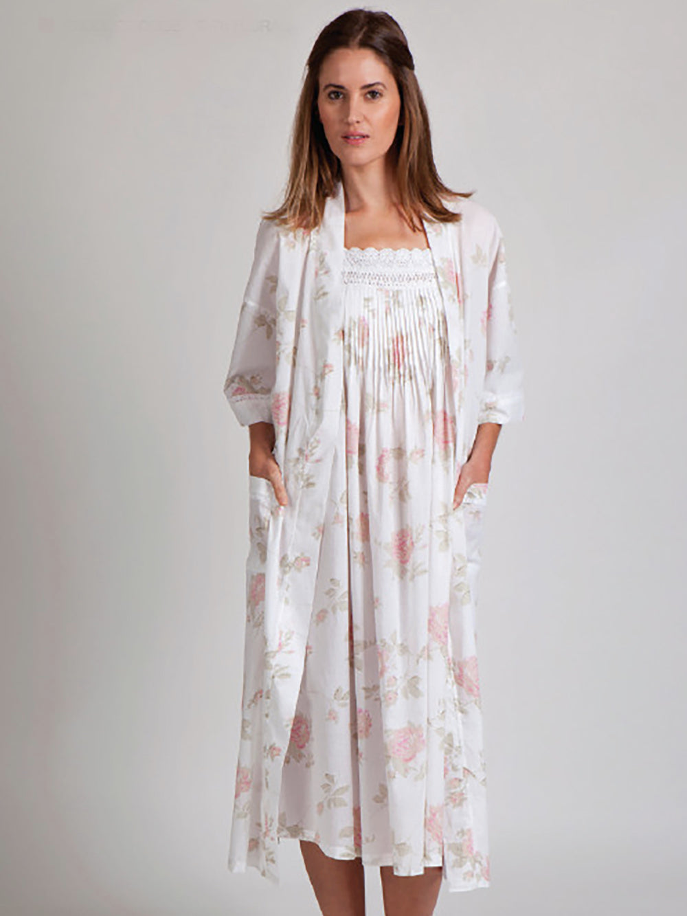 Annabelle Floral Cotton Arabella BathRobe