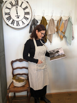 French Cotton Striped Apron