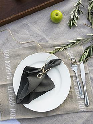 Linen Table Napkin - Granite
